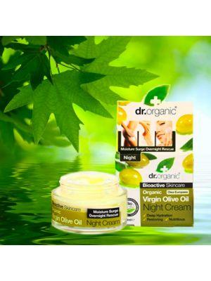 Dr.Organic Olio d'Oliva Vergine Trattamento Viso Notte 50 ml Linea Idratante