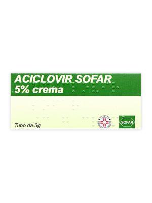 ACICLOVIR SOFAR*CREMA 5% 3G