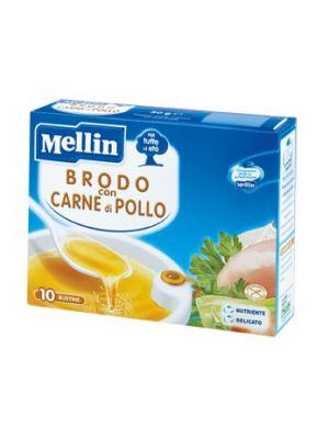 Mellin Brodo con carne di Pollo