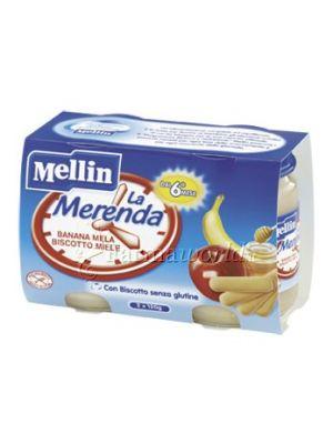 Mellin Merenda banana mela biscotto e miele