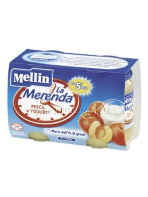 Mellin Merenda pesca e yogurt