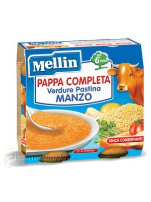 Mellin Pappa Completa Verdure Pastina Manzo