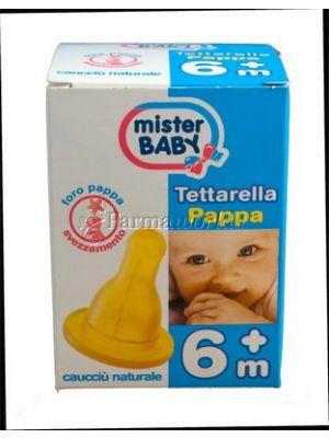 Mister Baby Tettarella Foro Pappa 6 mesi+