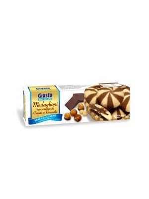 Giusto Medaglioni Cacao/Nocciola senza Zucchero