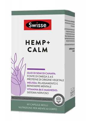 Swisse Hemp+ Calm 60 Capsule vegetali